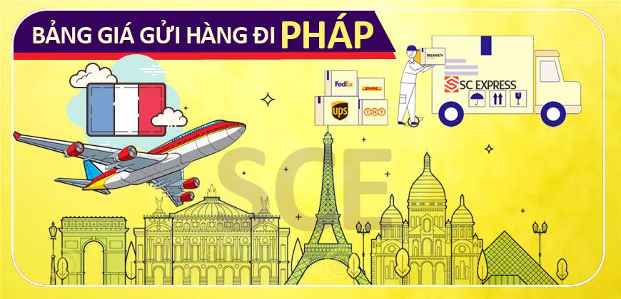 Bang gia gui hang di Phap
