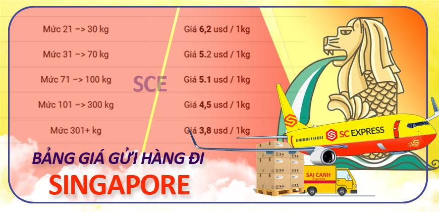 Gia gui hang di Singapore