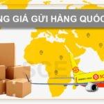 Bảng giá chuyển phát nhanh quốc tế đi các nước