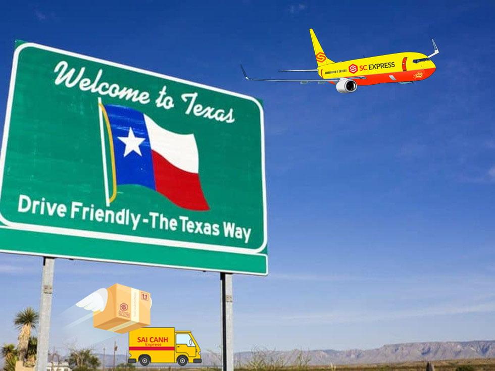 Chuyển phát nhanh đi Texas