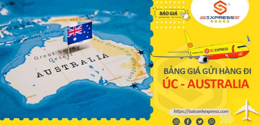 Bảng giá gửi hàng đi Australia