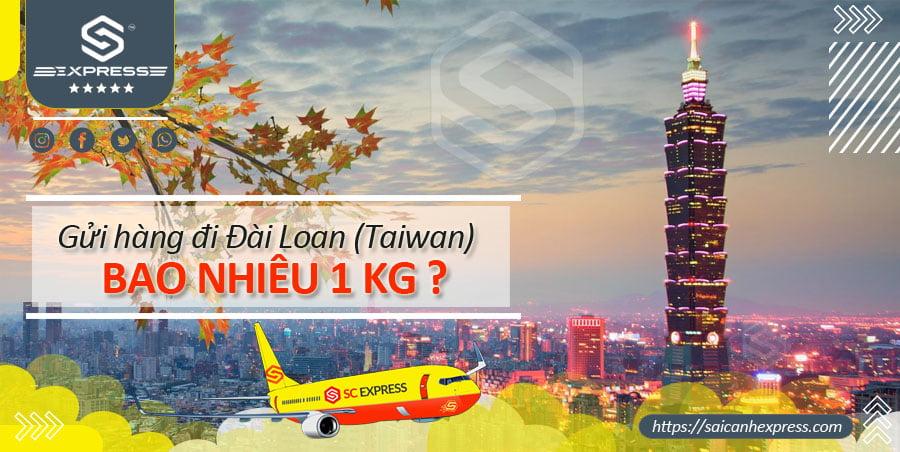 Bảng giá chuyển phát nhanh đi Đài Loan