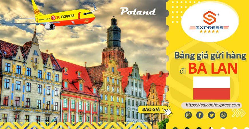 Bảng giá chuyển phát nhanh đi Ba Lan