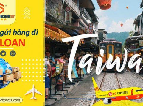 Bảng giá gửi hàng đi Đài Loan