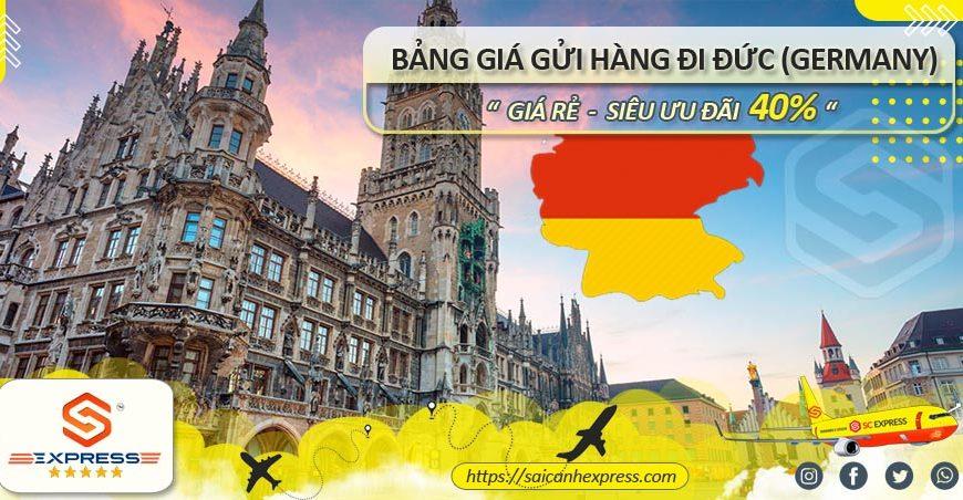 Bảng giá gửi hàng đi Đức Germany